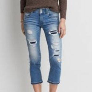 AMERICAN EAGLE OUTFITTERS | Artist Crop Jeans Sz 6